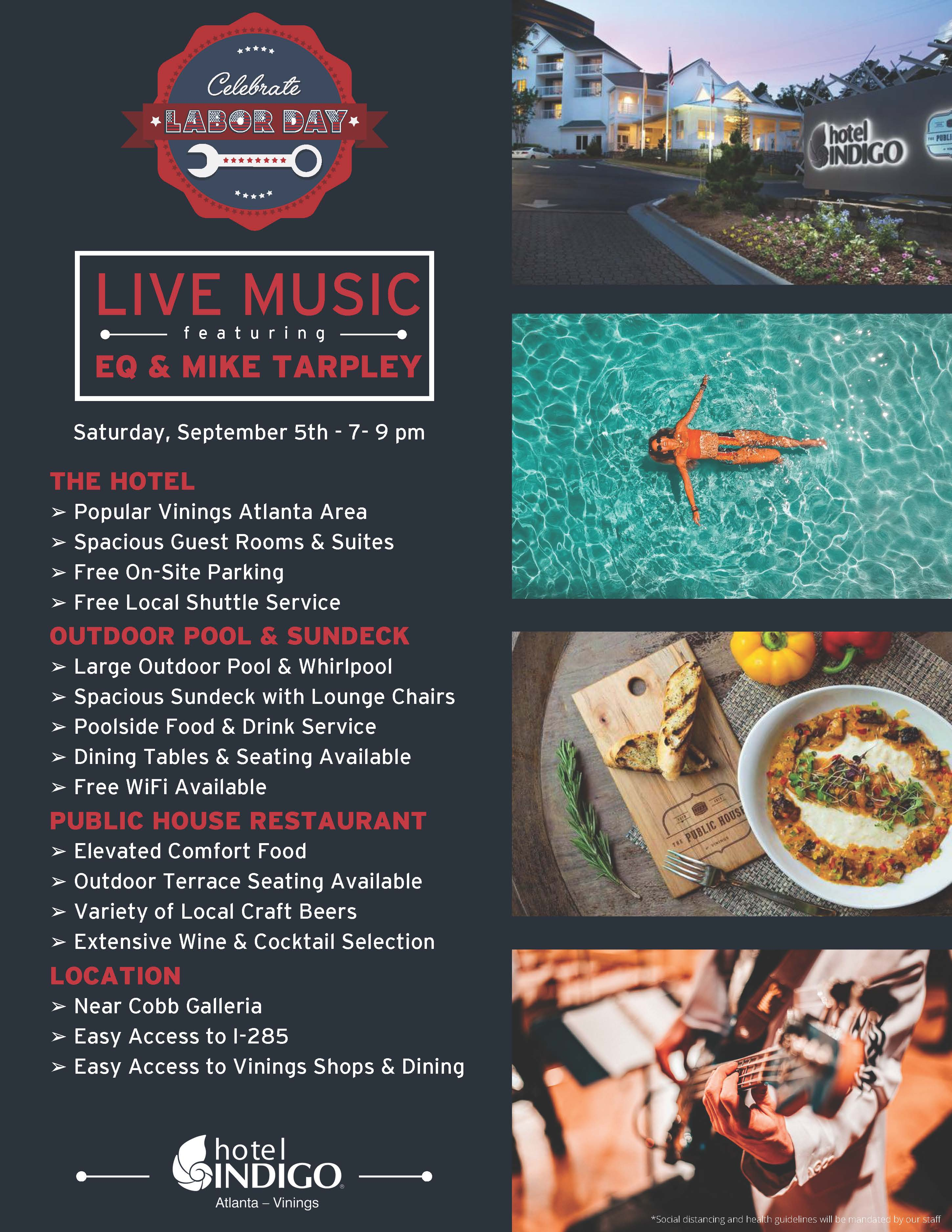 Live Jazz by the Pool at Hotel Indigo Vinings